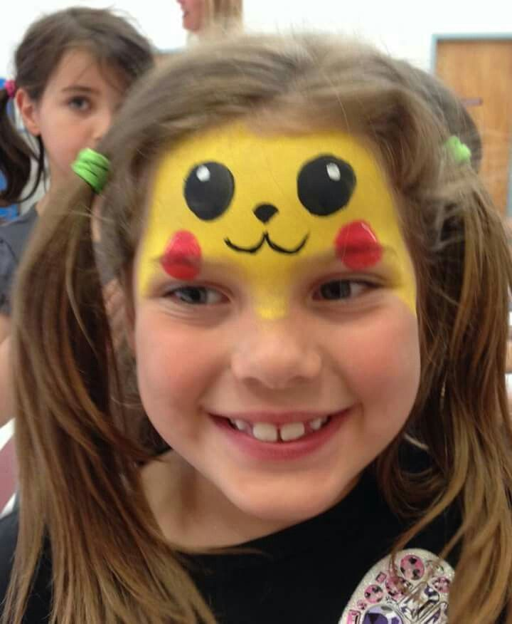 Pikachu Pikachu Face Painting Face Painting Designs Face Painting Easy