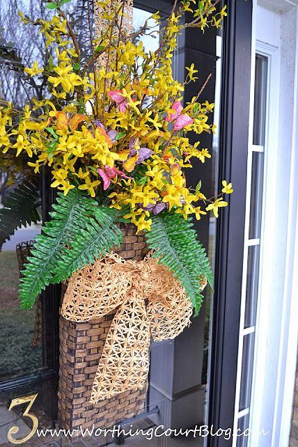 Lovely Summer Daisies Hanging Door Basket