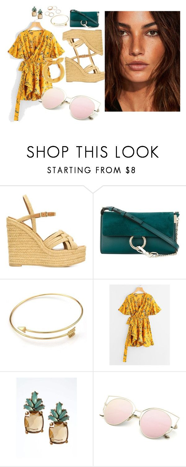 """""""Sunny day"""" by stridula ❤ liked on Polyvore featuring Yves Saint Laurent, Chloé and Banana Republic"""