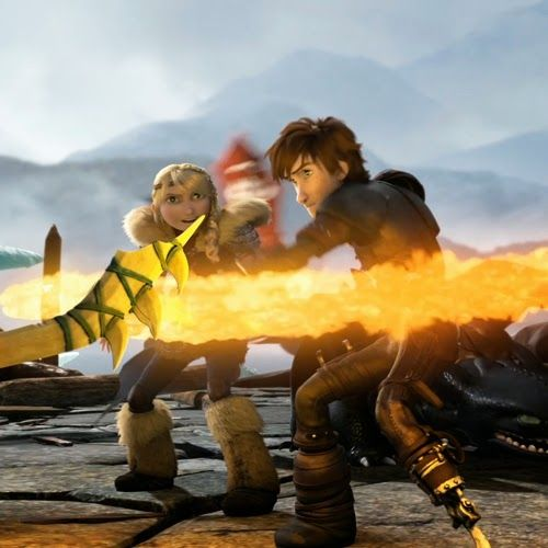 Hiccup Defending Astrid And Toothless With The Fire Sword Aaaaaaahh Okay I Get It Now How Train Your Dragon How To Train Your Dragon Dragon 2