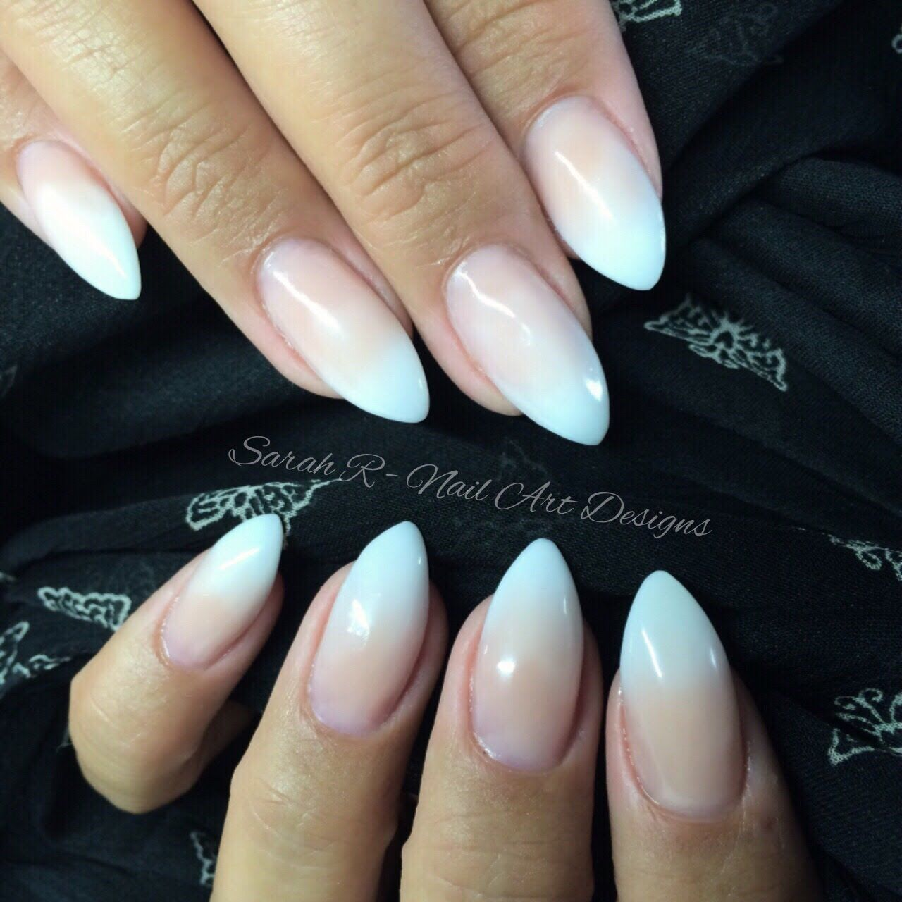 Acrylic Nails French: Faded Ombré French Acrylic Nails