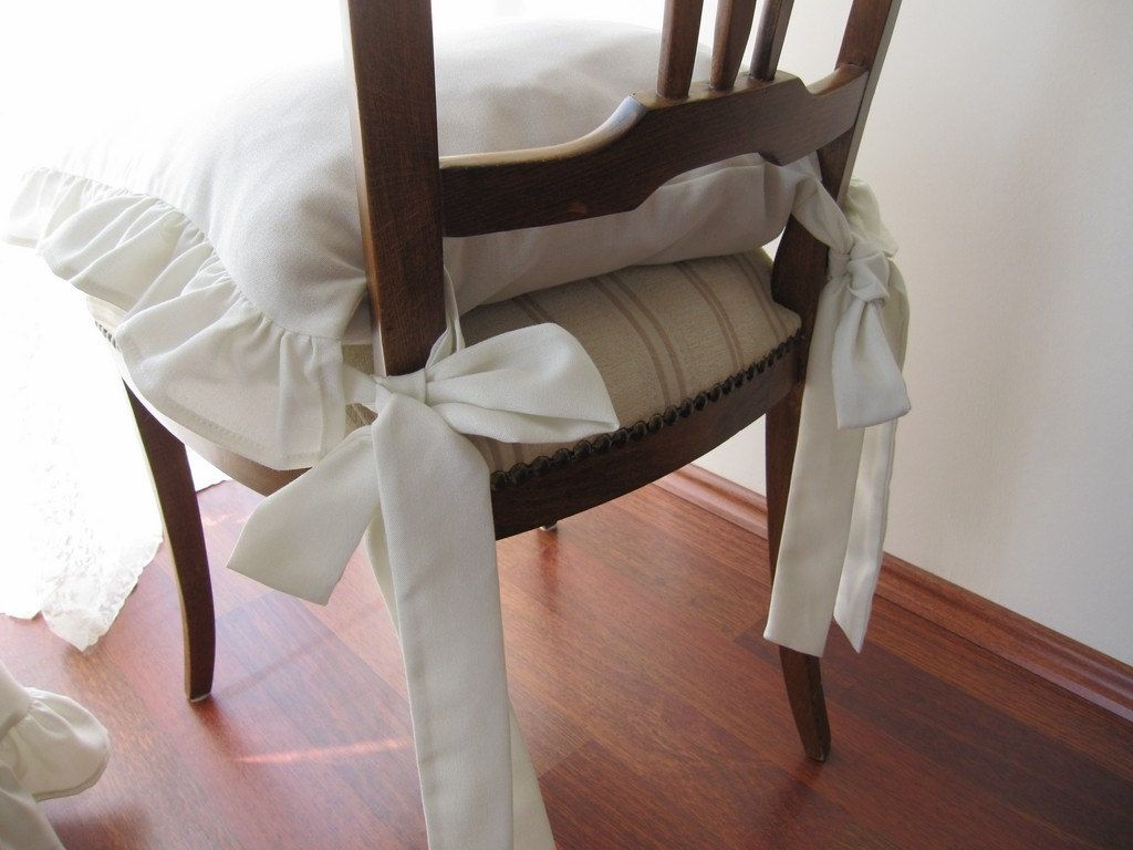 Delicieux Kitchen Chair Cushion Covers With Ties