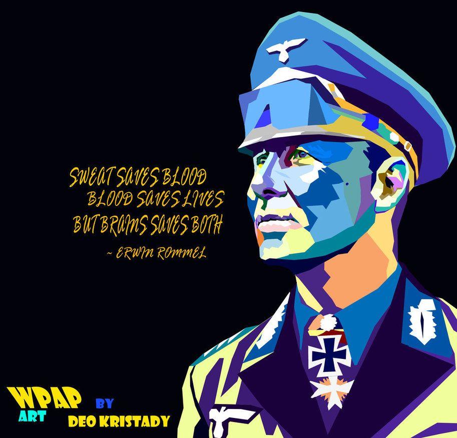 Erwin Rommel WPAP Art by DeoKristady
