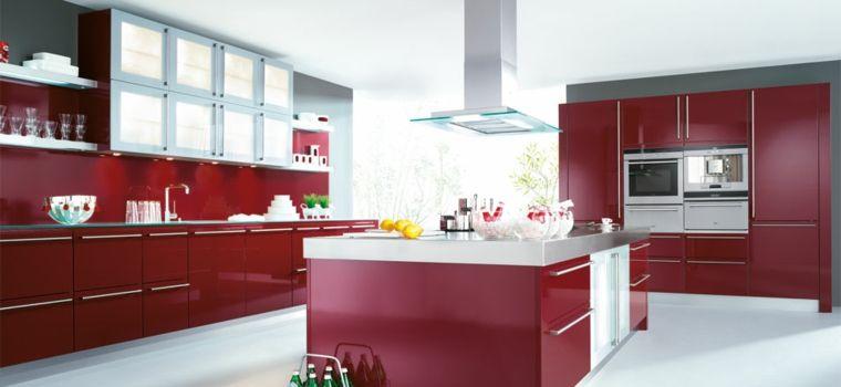 Cocinas En Rojo Treinta Y Ocho Disenos Ardientes Cuina - Cocinas-en-rojo
