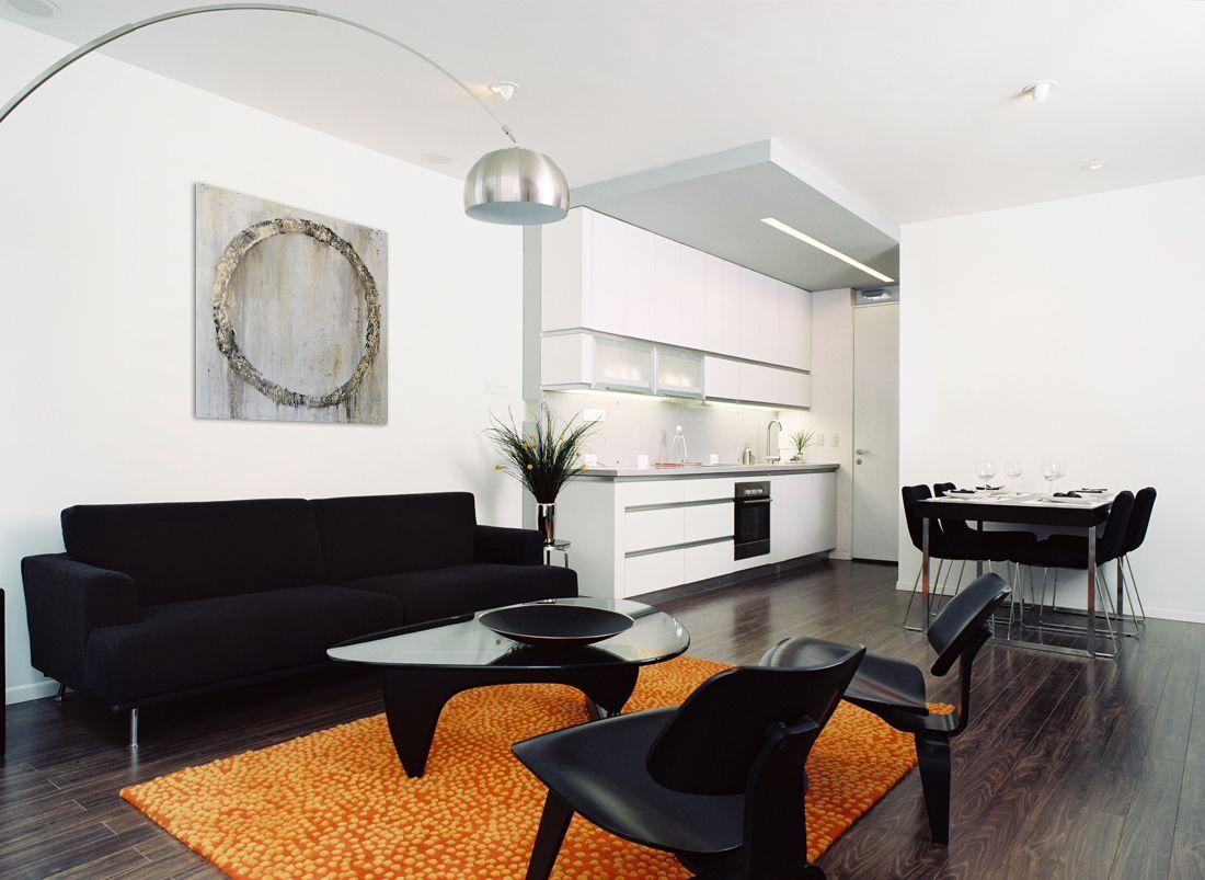 living room rustic circle oil painting  black living room