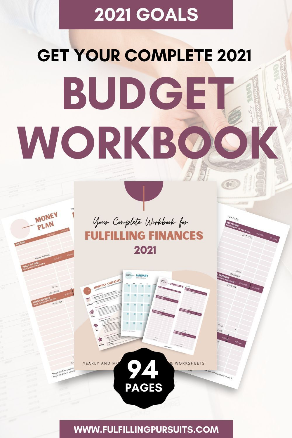 2021 Complete Budget Workbook Printable 94 Pages Etsy Budgeting Money Plan Budgeting Money [ 1500 x 1000 Pixel ]