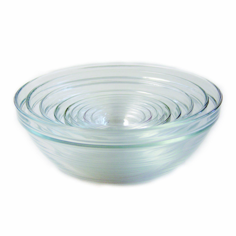 Amazon.com: Duralex Lys Stackable 10-Piece Bowl Set: Mixing Bowls: Home & Kitchen
