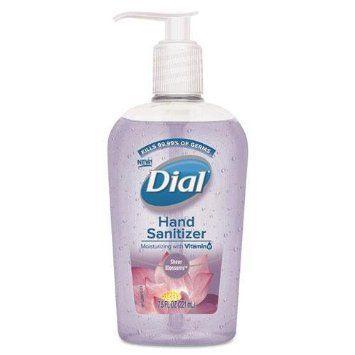 Dial 8 Count 16 Oz Fragrance Free Hand Sanitizer Gel 00213