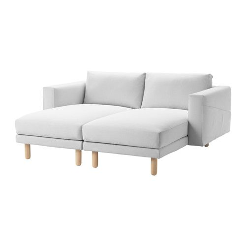 IKEA NORSBORG Cover For 2 Chaise Longues Finnsta White The Cover Is Easy To  Keep Clean As It Is Removable And Can Be Machine Washed.