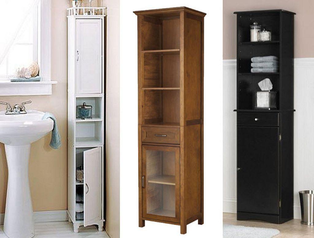 Narrow Floor Standing Bathroom Cabinet Tall Cabinet Storage Narrow Bathroom Storage Narrow Bathroom Cabinet