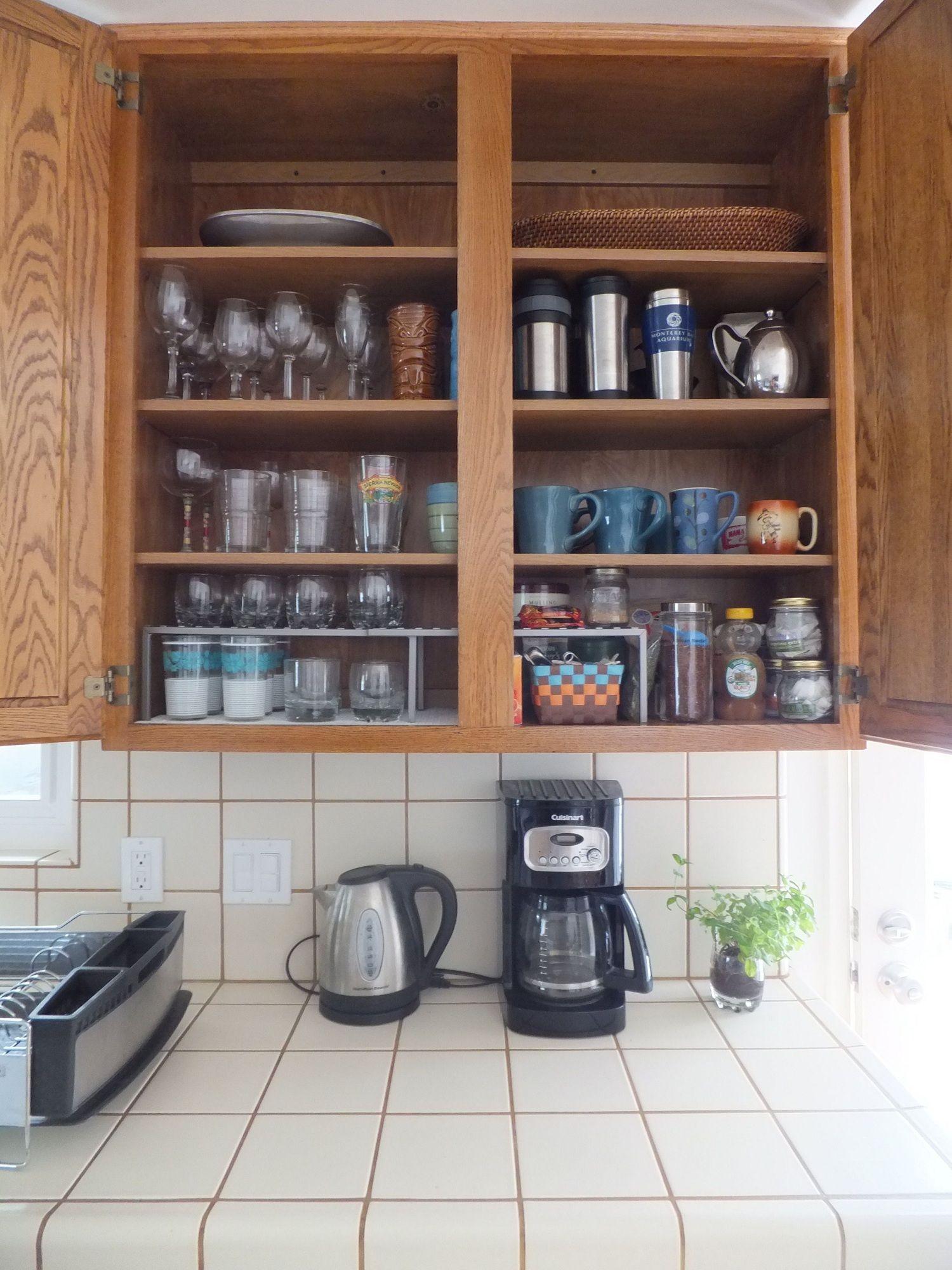 Kitchen cabinet organization accessories