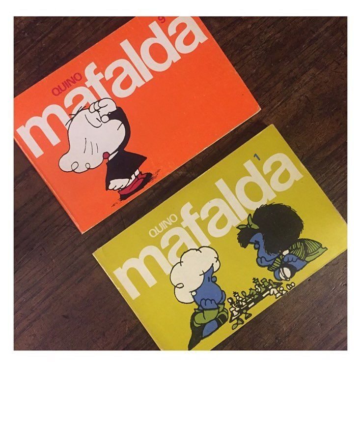 Delicinhas de hoje 02 exemplares da Mafalda (1978 e 1981). #mafalda #castellano by lucianokin