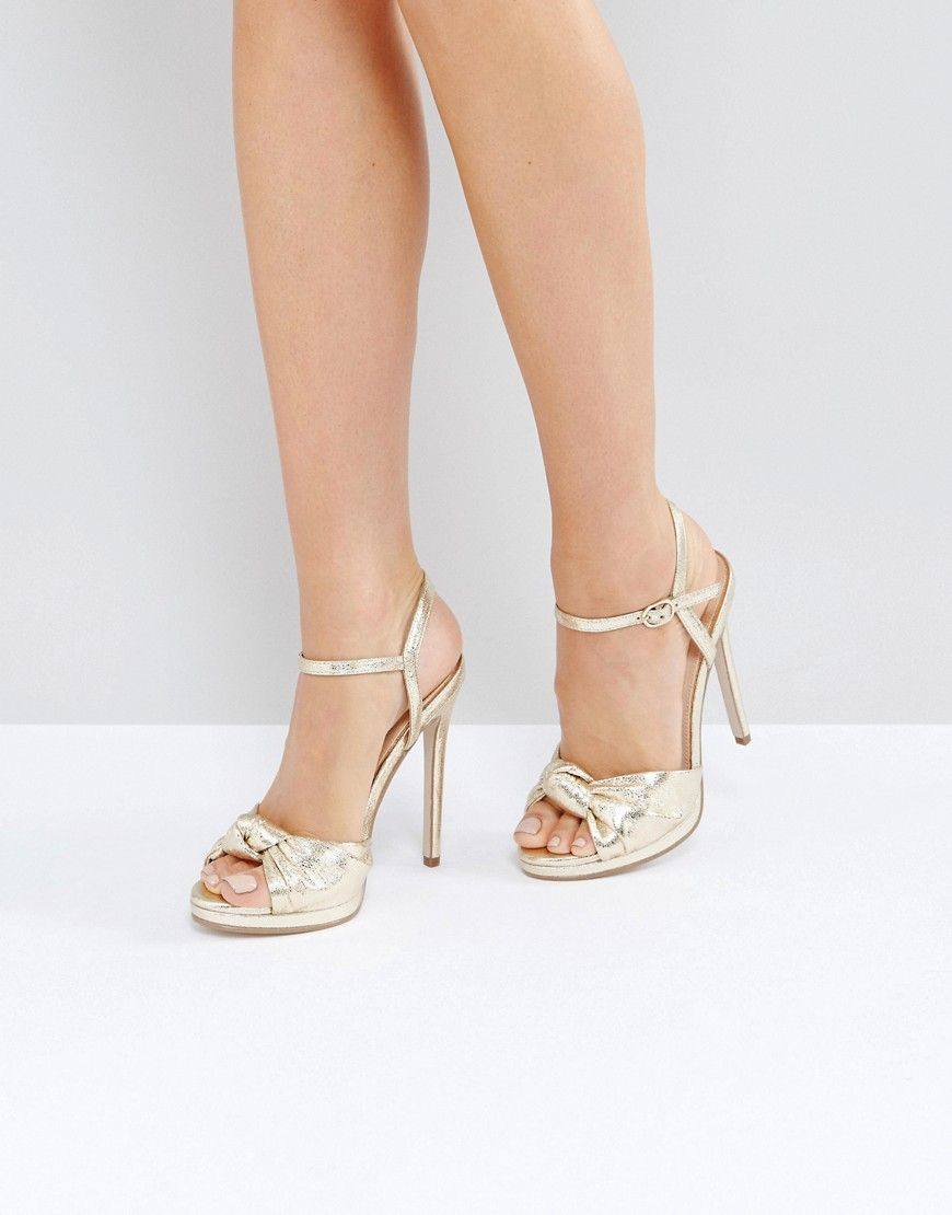 adf84a06f0e0 Office Hold Tight Gold Platform Sandals - Gold