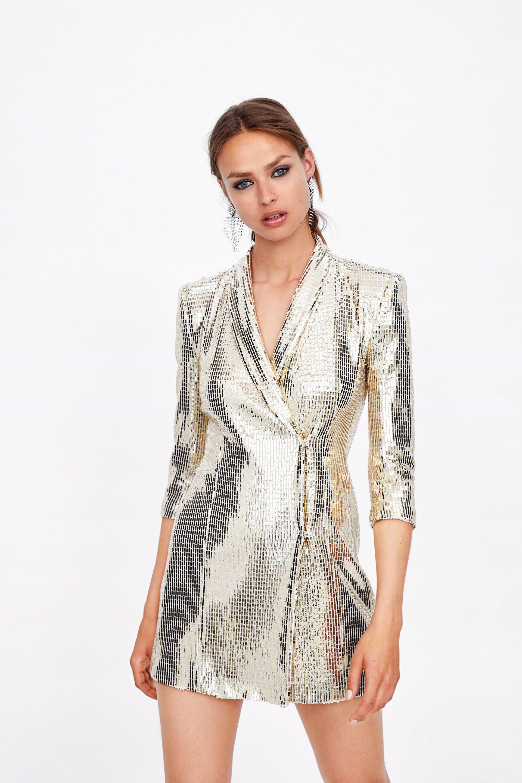 38c44f0212 Shiny blazer dress in 2019 | Lookbook | Dresses, Blazer dress ...