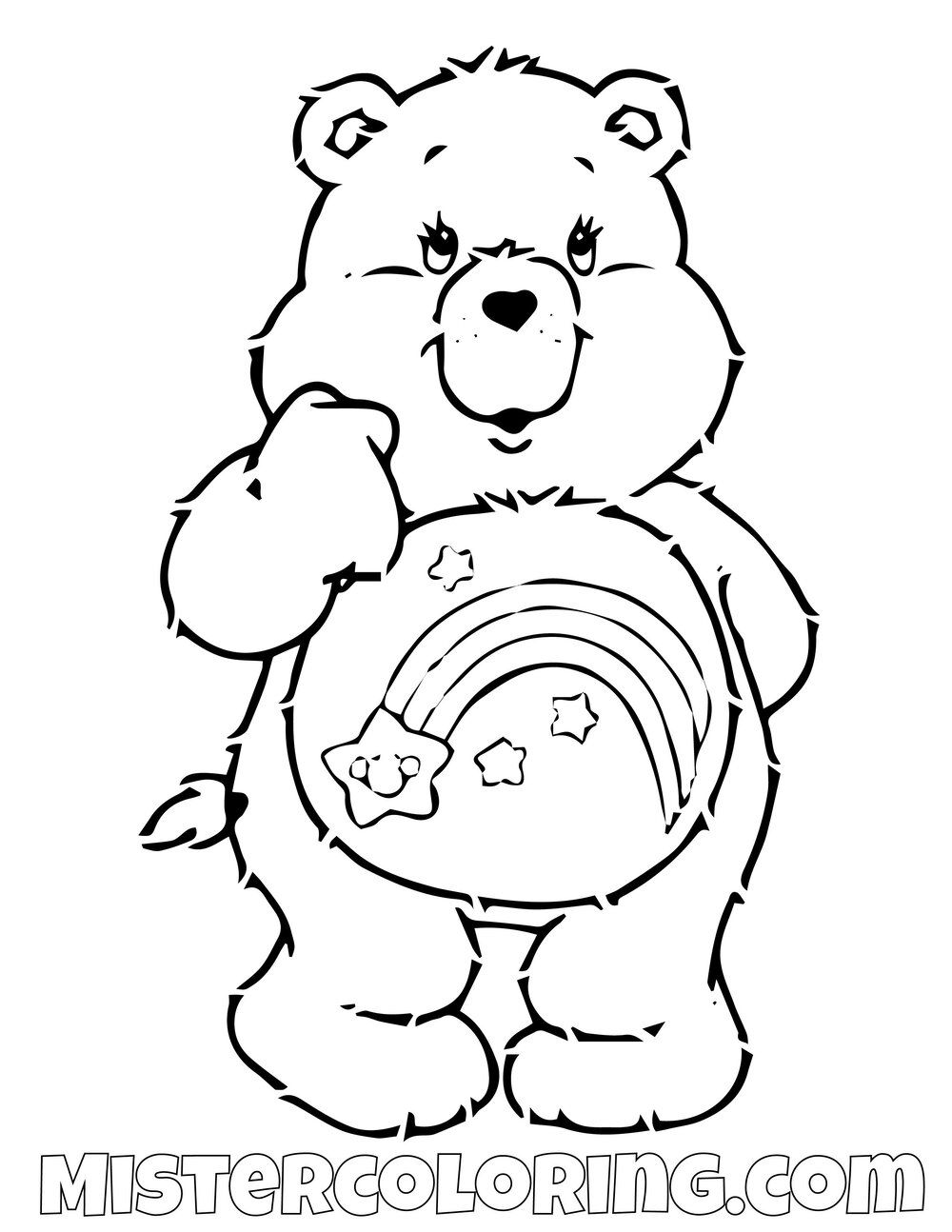 Cheer Bear Coloring Page Bear Coloring Pages Coloring Pages Coloring Pages For Kids