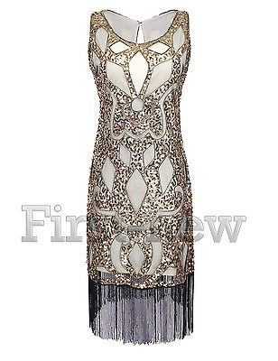 1920s Dress Great Gatsby Charleston Flapper Party Sequin Tassel Vintage Costume
