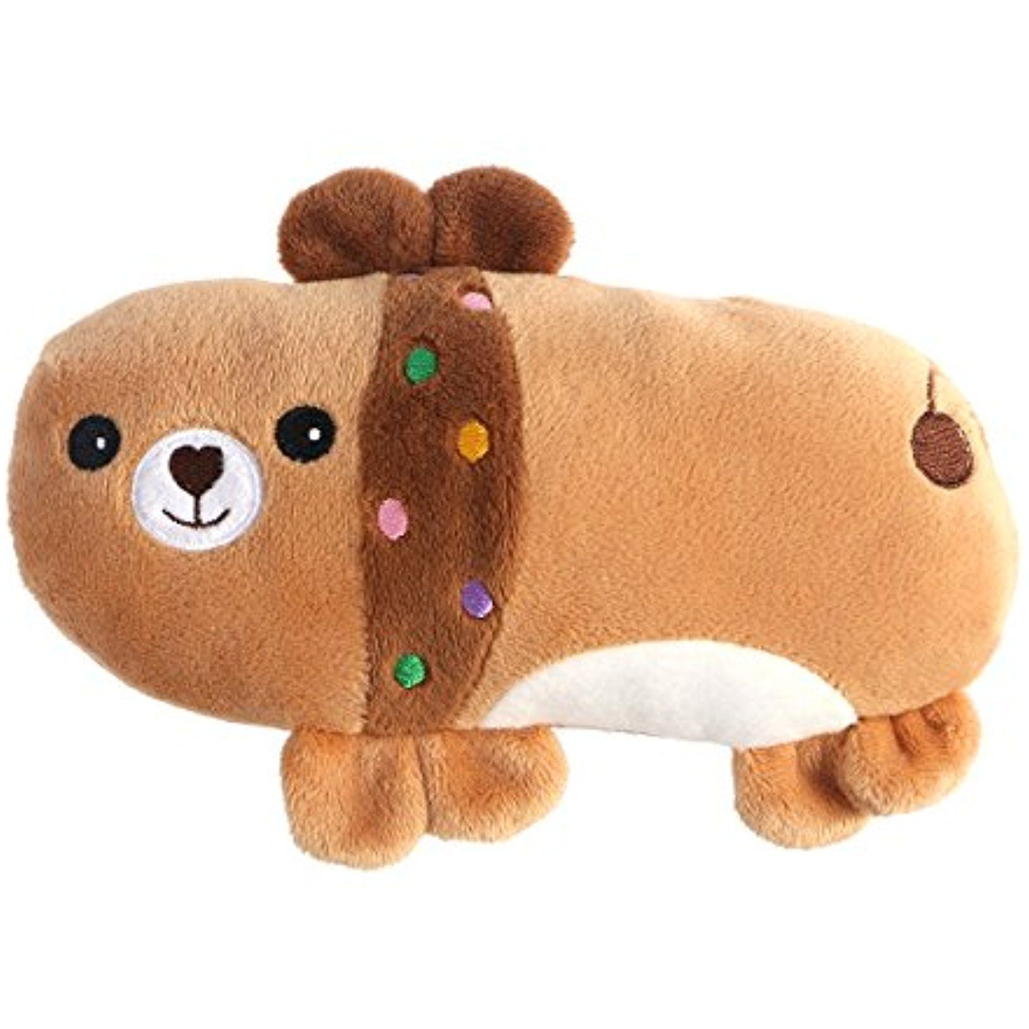 Ueetek Dog Squeaky Toy Dog Chew Toy Soft Plush Dog Toy Brown Bear