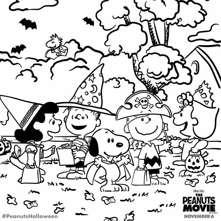 Peanuts Movie | snoopy | Snoopy coloring pages, Halloween ...