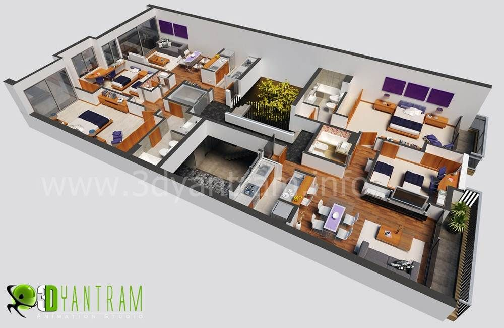 Studio Plans And Designs 3d #floor #plan #design capetown south africa #floorplans