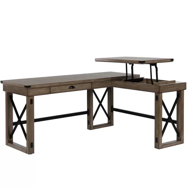 Tasha L Shape Standing Desk Joss Main In 2020 L Shaped Desk Cheap Office Furniture Unique Desks