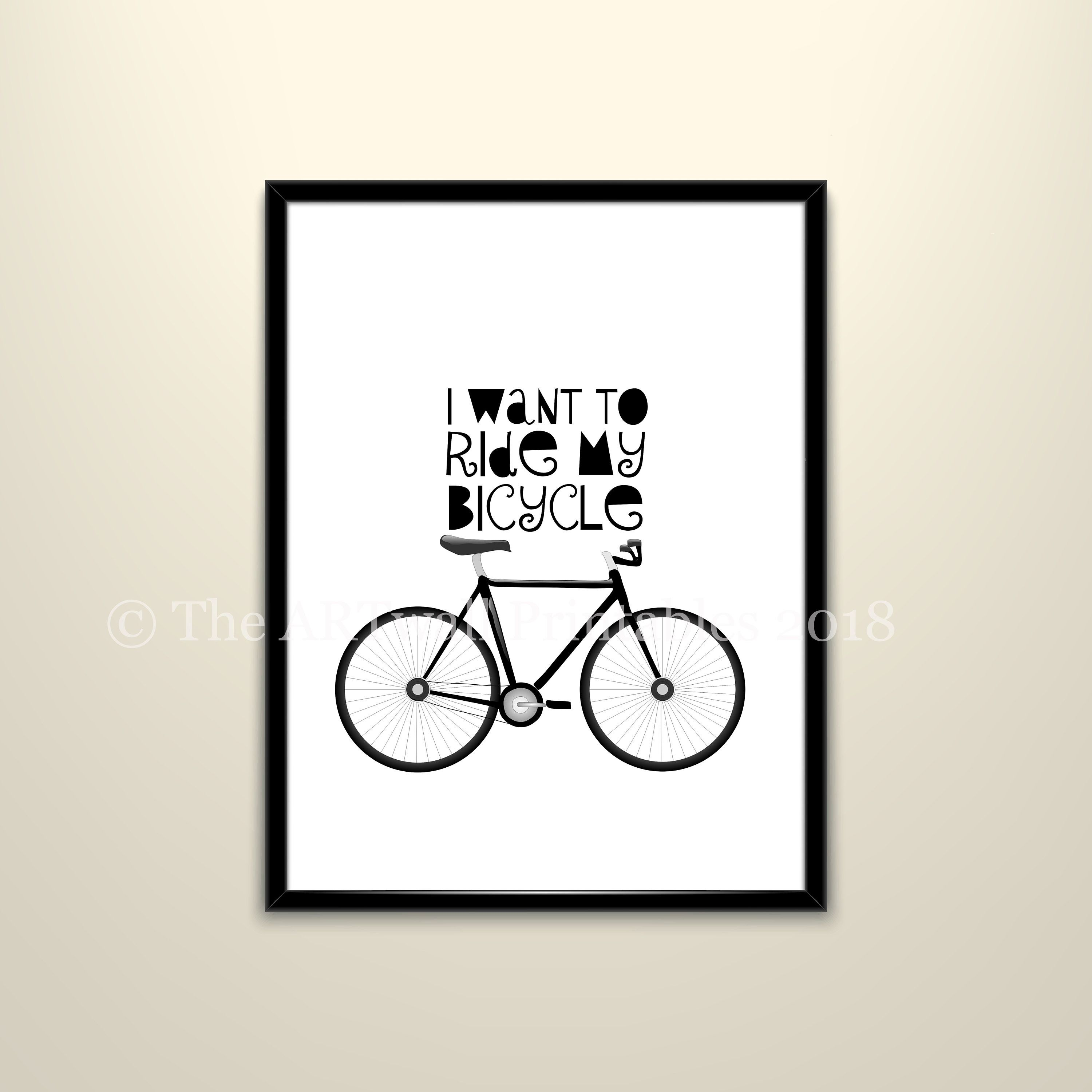 Etsy Shop Inspirational Quote Kids Quotes Ride My Bicycle Quote