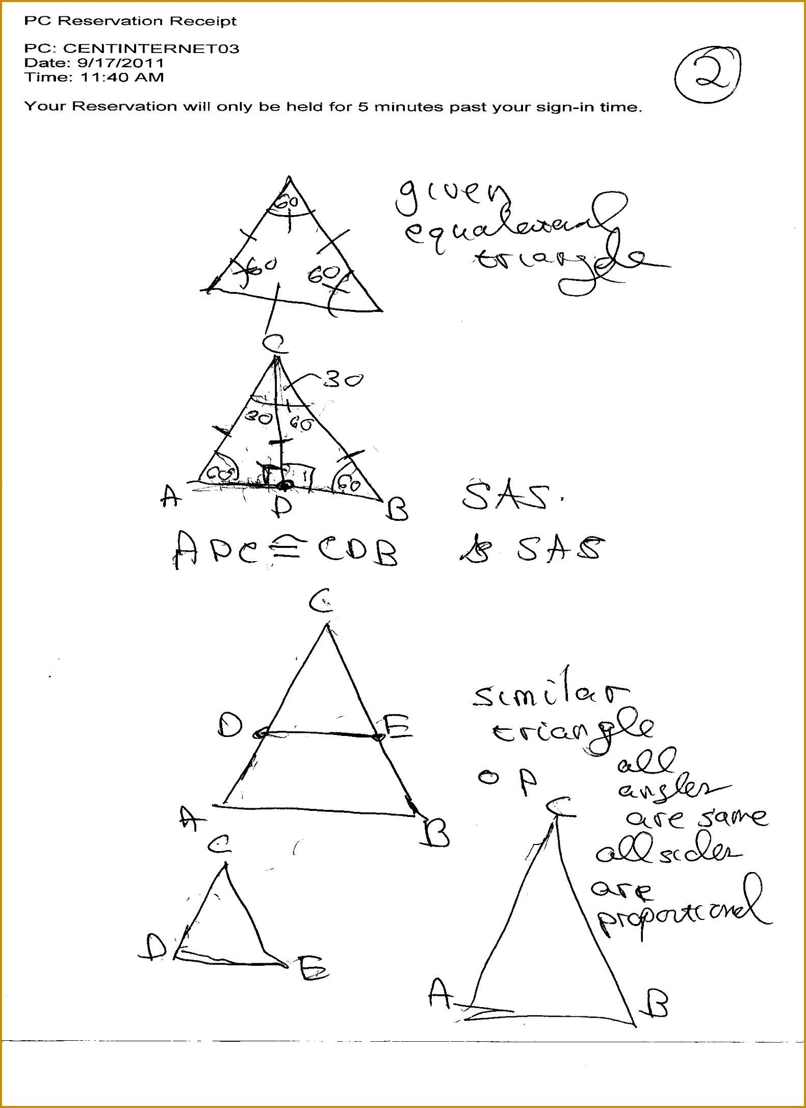 Classified Triangle Similarity Worksheet