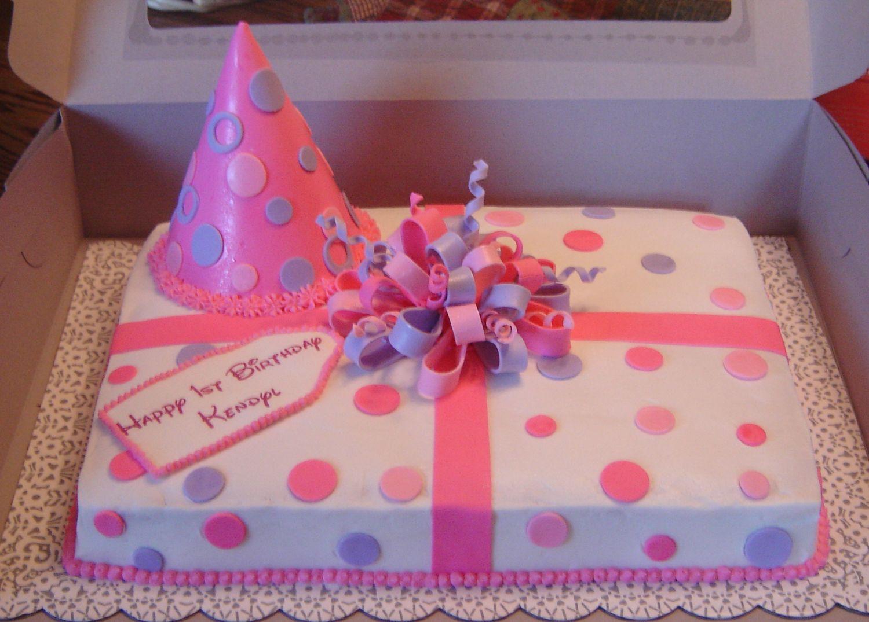 Girly Birthday Cake This is my first girly birthday cake Most