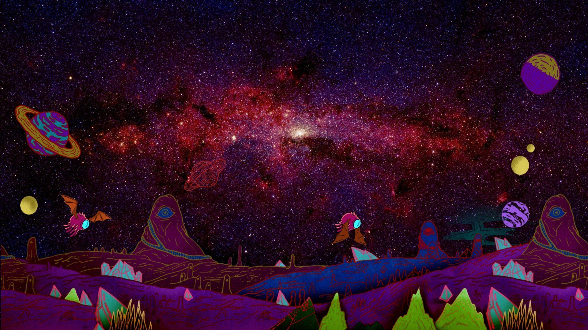 Rick And Morty Tv Show Hd Wallpaper In 2020 Cartoon Wallpaper Rick And Morty Wallpaper Space