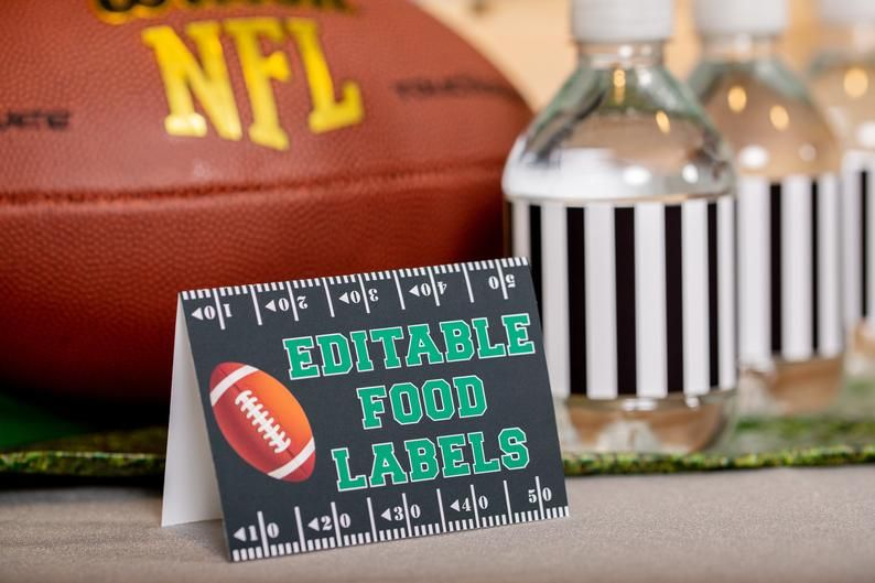 Football Party Food Labels - Printable Football Food Tent ...