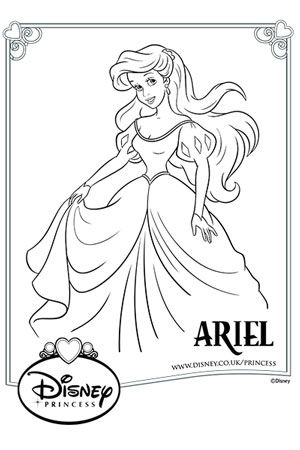 Disney Princess Colouring Pages | Mermaid coloring pages ...