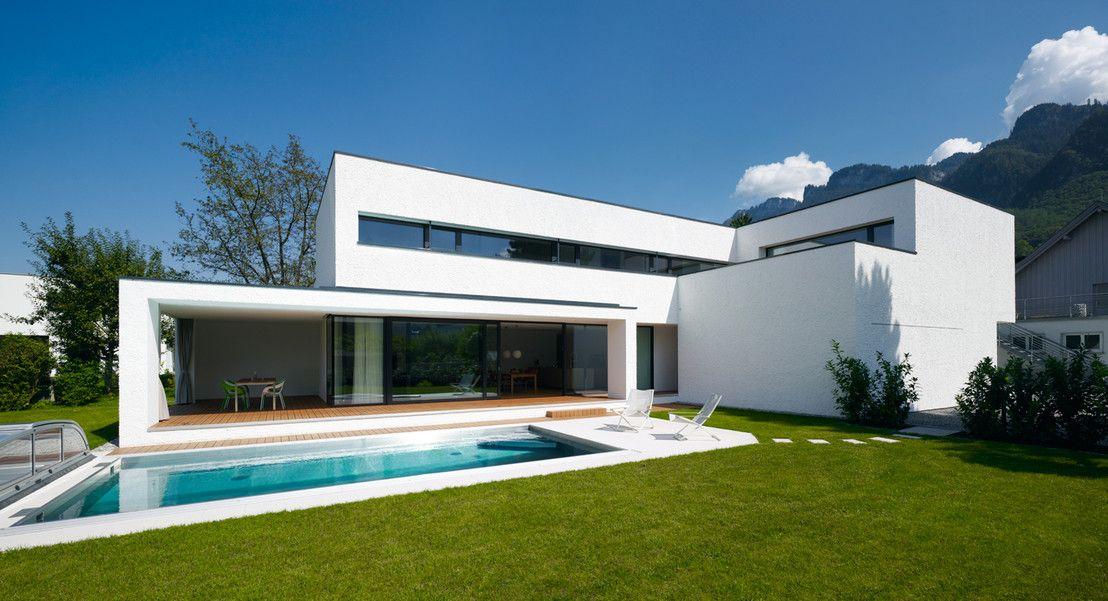 modernes einfamilienhaus mit pool | schwimmbäder, Garten und erstellen