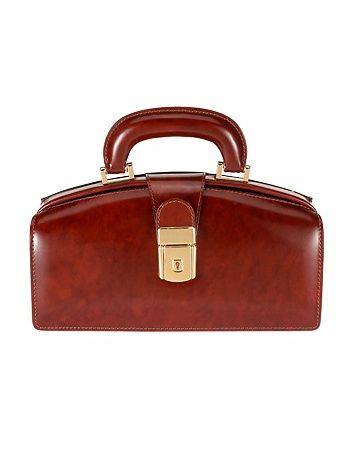 Pratesi Dark Brown Italian Calf Leather Mini Doctor Bag w/ Lighting   FORZIERI