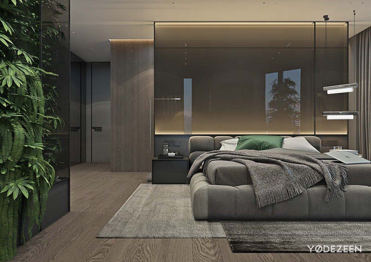 Luxurious Apartment Design Arranged By Contemporary And Organic Style Decor  Looks Stunning | Grey Bedroom Design, Gray Bedroom And Luxury