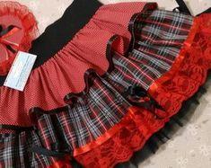 2bb78c479 saia-junina-vermelha-e-xadrez-preto-vestido-de-festa-junina | одежда ...
