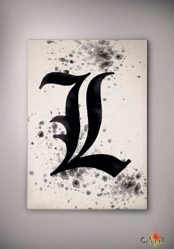Death Note L Watercolor illustrations Art Print Wall Art Poster Giclee Wall Anime Art Home Decor Wall Hanging Modern Geek Multi Size n228 on Etsy, 31,19 zł