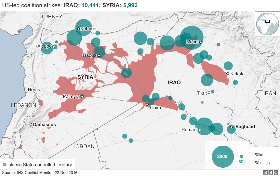 The war against islamic state in maps and charts syria map of syria and iraq showing is area of control gumiabroncs Image collections