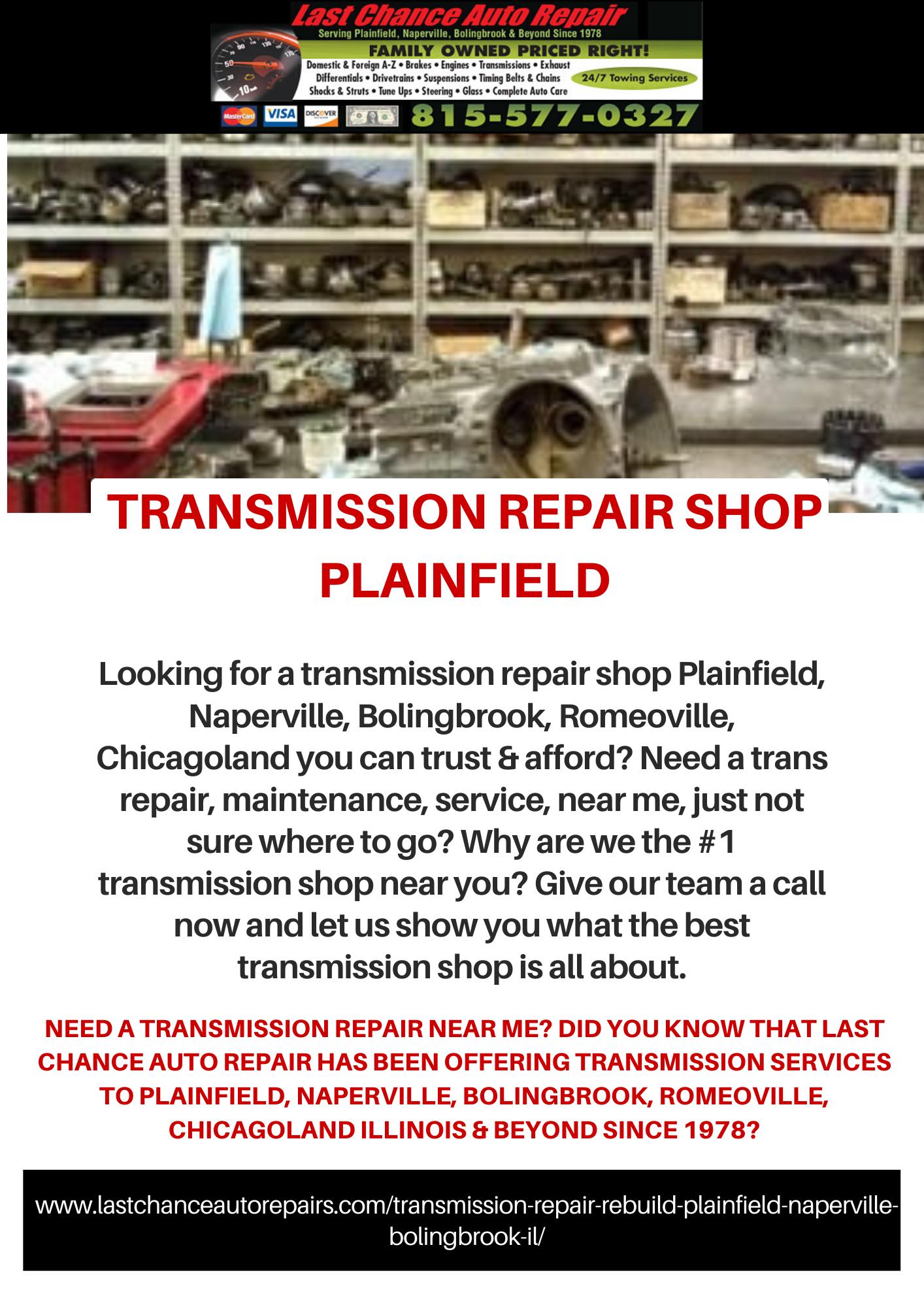 Allison transmission service near me