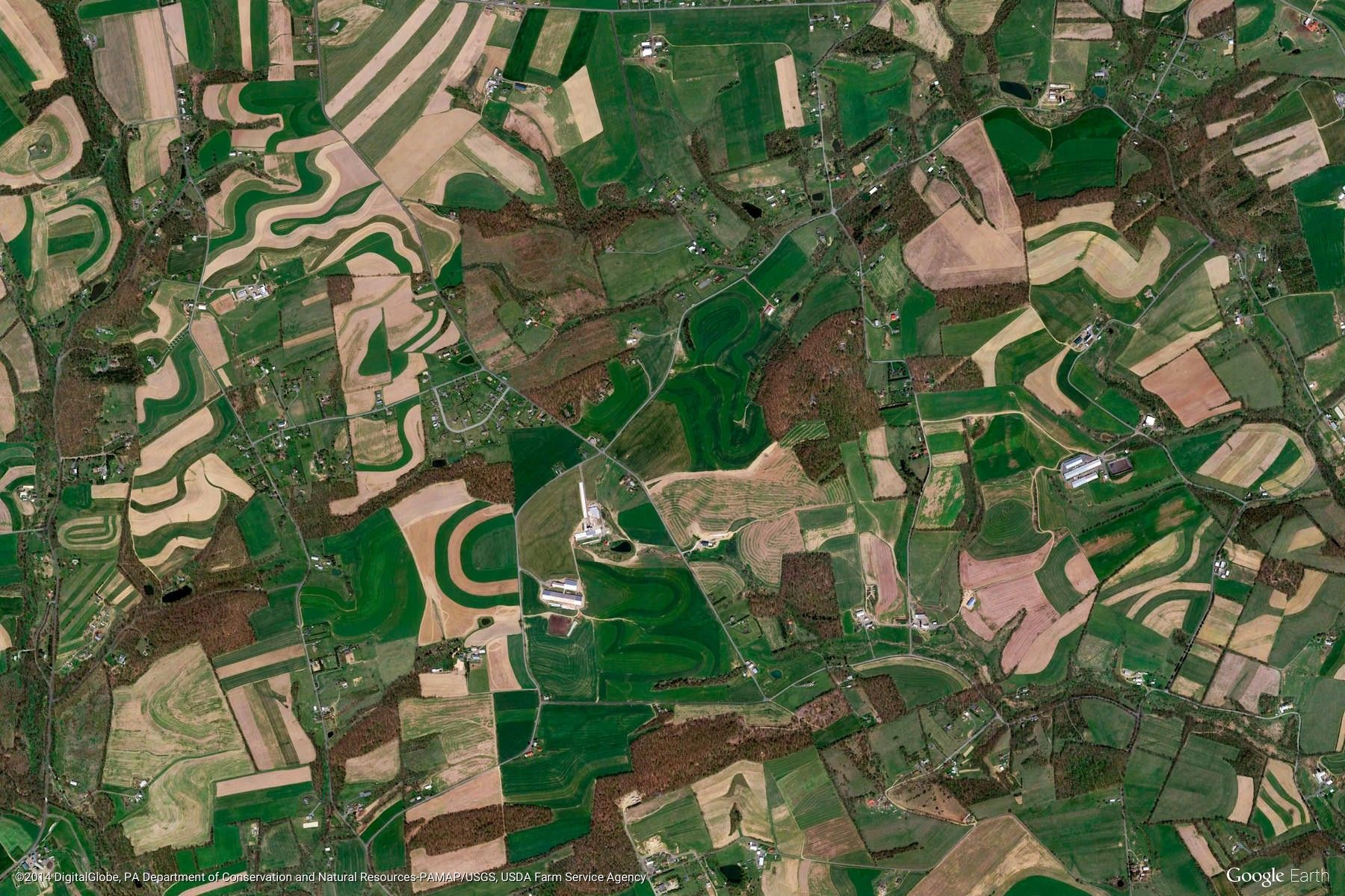 Bernville United States Crop Mystery Google Earth View 1448