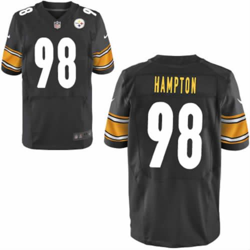 20e04a13a ... White Authentic Jerseys Sale Men Nike Pittsburgh Steelers 98 Casey  Hampton Black Elite NFL Jersey Sale ...