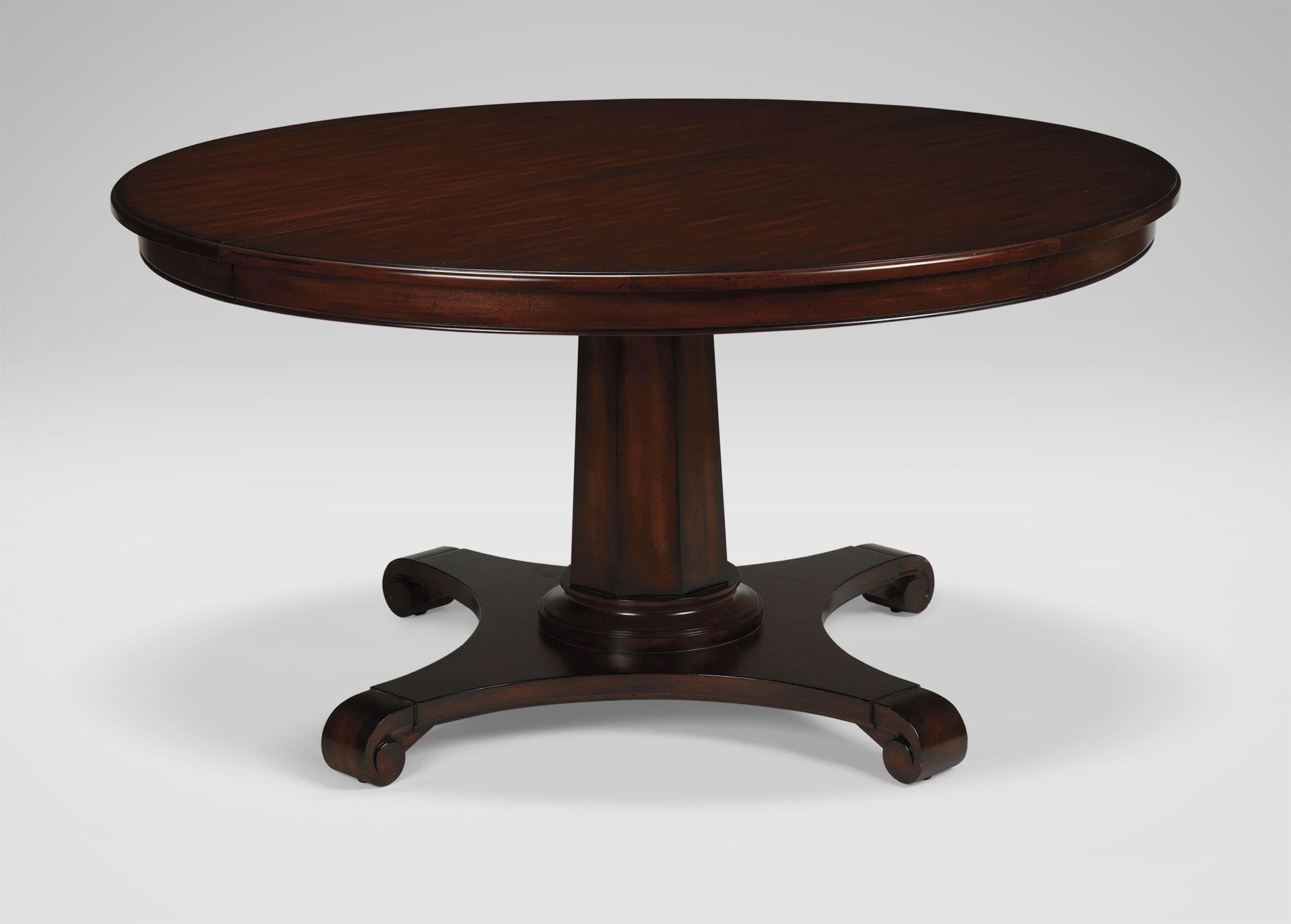 "Sanders Round Dining Table Ethan Allen 58"" Extends To 78 Prepossessing Round Dining Room Tables For Sale Inspiration Design"