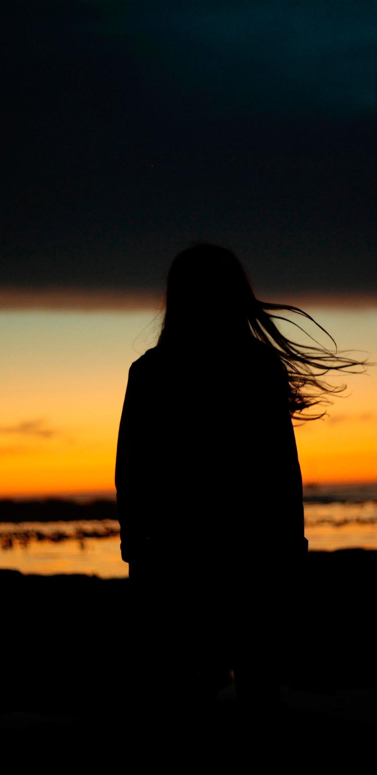 Sunset Girl Wallpaper By Efforfake On Deviantart Sunset Girl Sunset Pictures Girl Silhouette