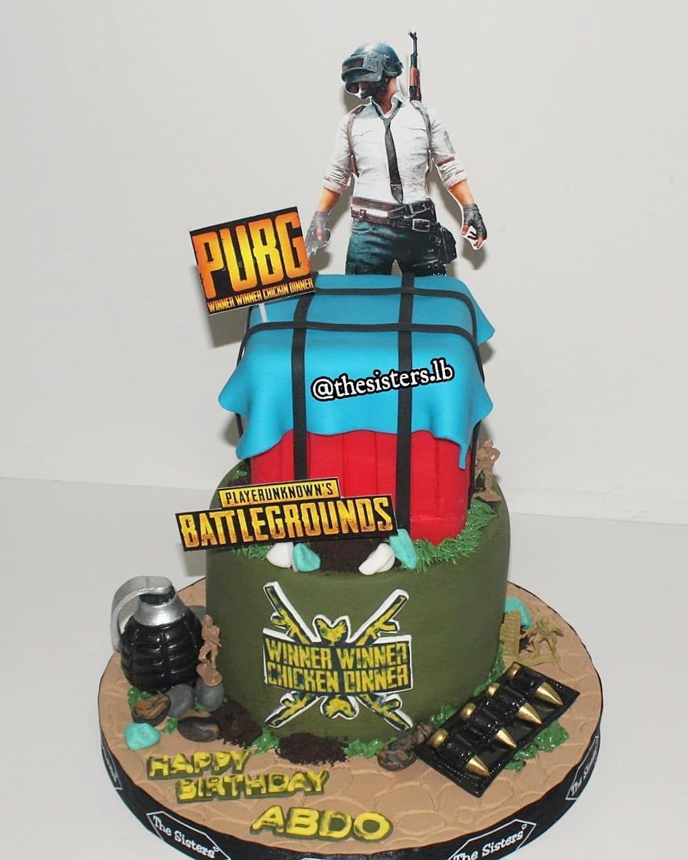 Pubg Cake Cumple Macho In 2019 Birthday Cake Roblox Cake