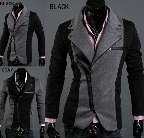 Mens Casual Top Design Sexy Slim Fit Blazers Coats Suit Jackets 2 Color FF1136 | eBay $14.99