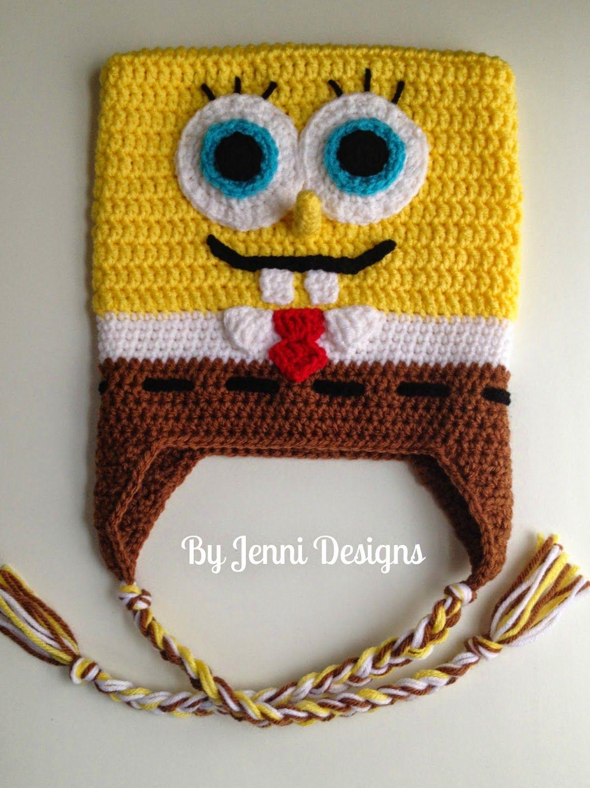 Free Crochet Pattern: Spongebob Squarepants Inspired Hat   Crochet ...
