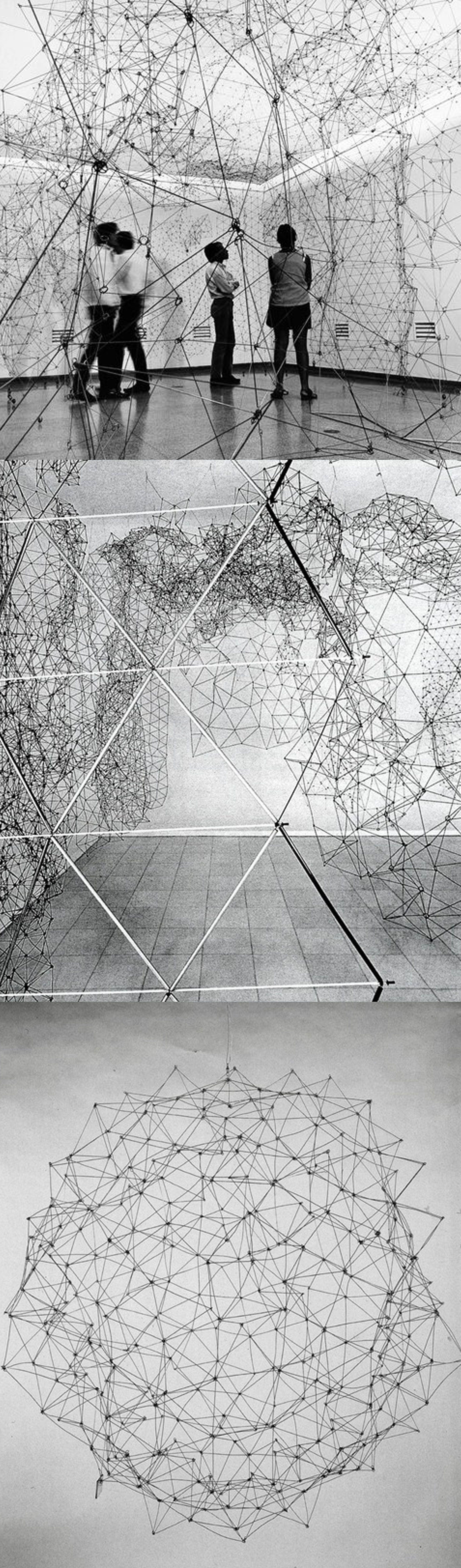 Gego (Gertrud Goldschmidt) - Reticulárea, 1969-1980s, aluminum and ...