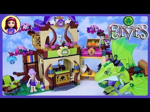 Lego Elves Green Earth Dragon The Secret Market Place Set Build ...