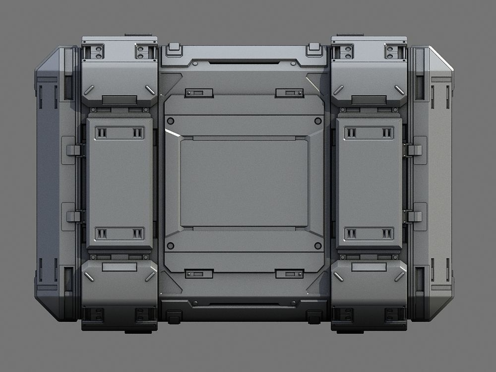 sci-fi containers 3d model max obj fbx 8 | Space Cargo in 2019 | Sci