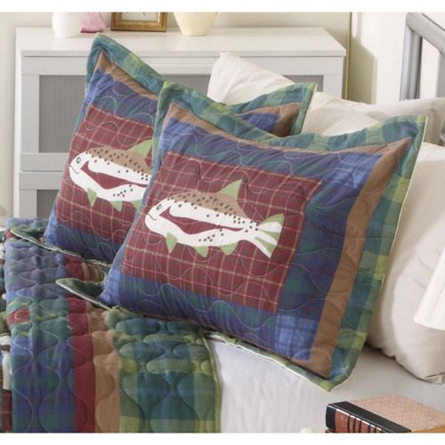 mainstays quilt collection gone fishing multicolor