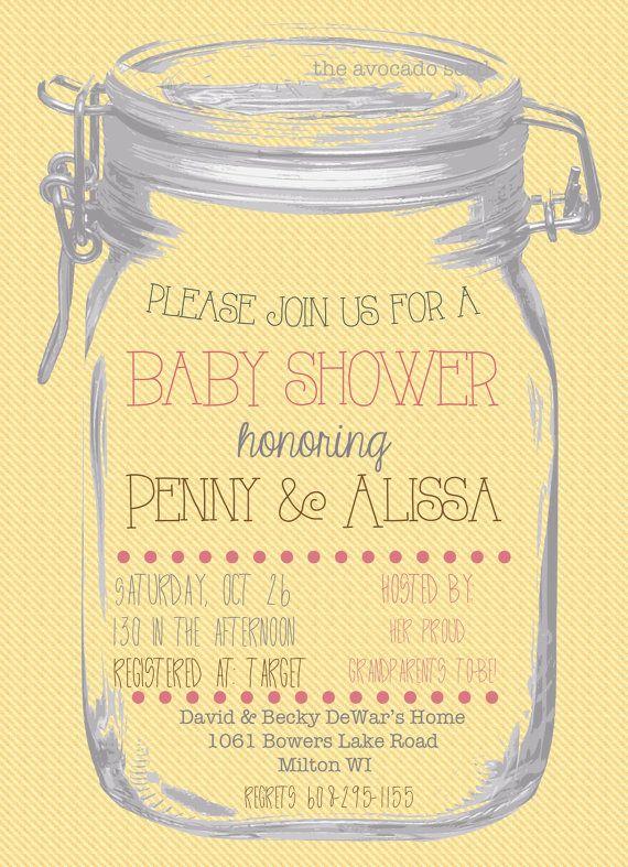 Mason Jar Baby Shower