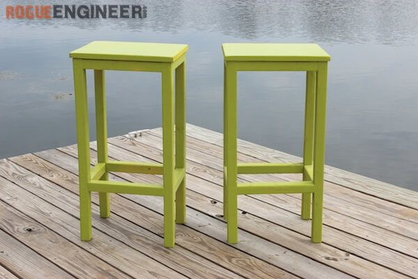 Easiest Bar Stools EVER! { Free DIY Plans   Woodworking ...